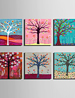 E-HOME® Stretched Canvas Art A Tree Full Of Flowers Series Decoration Painting MINI SIZE One Pcs