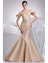Formal Evening Dress-Champagne Trumpet/Mermaid Sweetheart Sweep/Brush Train Taffeta