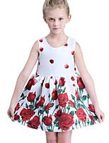 Girl's White Dress Cotton Summer