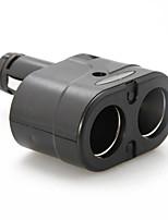 twin 2-weg socket sigarettenaansteker in de auto-adapter aansteker splitter