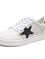Scarpe Donna-Sneakers alla moda-Tempo libero / Casual-Comoda / Punta arrotondata-Piatto-Di pelle-Nero / Verde / Rosso