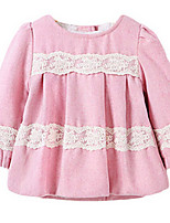 Robe Fille de Printemps / Automne Polyester Rose