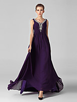 Formal Evening Dress Ball Gown V-neck Sweep/Brush Train Tulle / Sequined