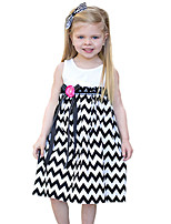Girl's Cotton Summer Wave Stripes Tank Top Dress