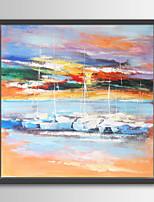 Abstrato Pinturas a Óleo Emolduradas 70x70cm Wall Art,Madeira