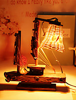 Creative Wood Light  Sailing Lamp Decoration Desk Lamp Bedroom Lamp Gift for Kid