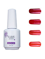ILuve Gel Nail Polish Set - Pack Of 4 - Long Lasting 3 Weeks Soak Off UV Led Gel Varnish – For Nail Art #4043