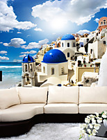 JAMMORY Art Deco Wallpaper Contemporary Wall Covering,Other Seascape Sky and Clouds Large Mural Wallpaper