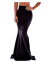 Women's Solid Skirts,Sexy Maxi