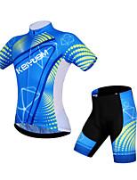 KEIYUEM®Unisex Short Sleeve Spring / Summer / Autumn Cycling Clothing  ShortsWaterproof / Breathable  Quick Dry