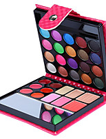 32 Colors Eye Shadow Pressed Powder Lip Gloss Blusher 4in1 Makeup Collection Wallet Packaging