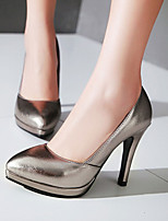 Women's Shoes Heel Heels / Platform / Pointed Toe Heels Office & Career / Dress / Casual Silver / Gray / Gold/822-3
