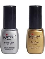 Kismart Soak Off UV Nail Gel Polish Base And Top Coat Gel Foundation LED Manicure Gel