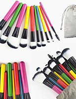 10PCS Brand Professional Candy Color Handle Makeup Cosmetic Brushes Set with Bag Powder Blush Eyeshadow Concealer Brush