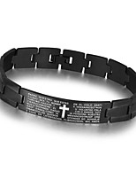 Fashion Men Jewelry Stainless Steel Bracelet and Bangle Black