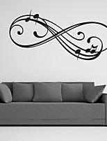 Mots& Citations / Romance / Mode / Abstrait / Fantaisie Stickers muraux Stickers avion,PVC M:42*86cm/ L:55*112cm