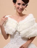 Casamento / Festa Pelo Artificial Capelets Sem Mangas Wraps casamento / Roupas de Pêlo / Capuzes e Ponchos