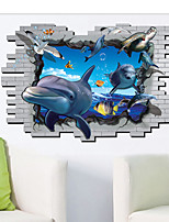 Shark Bottom Animals / Cartoon Wall Stickers 3D Wall Stickers,PVC 90*60cm