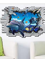 Animais / Desenho Animado Wall Stickers Autocolantes 3D para Parede,PVC 90*60cm