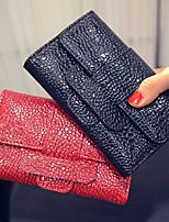 VENETA Women PU Bi-fold Clutch / Wallet-Red / Black / Khaki