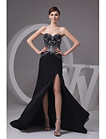 Formal Evening Dress Trumpet/Mermaid Sweetheart Court Train Chiffon