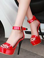 Women's Shoes Heel Heels / Peep Toe / Platform Sandals / Heels Party & Evening / Dress / Casual Black / Red / B18-2