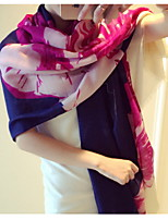 Winter Fashion Twill Large Flowers Super Wide Printing Cotton Scarves  Scarf Shawl