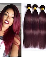 Burgundy Brazilian Hair Brazilian Virgin Hair Straight 3pcs/lot Brazilian Straight Hair 99j Brazilian Hair Weave
