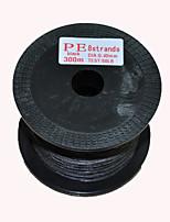 300M / 330 Yards Lenza intrecciata PE / Dyneema Nero 50LB 0.4 mm PerPesca di mare / Pesca a mosca / Pesca a mulinello / Spinning / Pesca