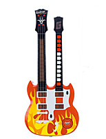 Guitar Shape Multi-Function Music Toy ABS Red / Black