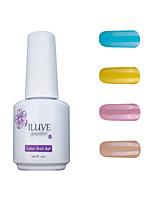 ILuve Gel Nail Polish Set - Pack Of 4 - Long Lasting 3 Weeks Soak Off UV Led Gel Varnish – For Nail Art #4028