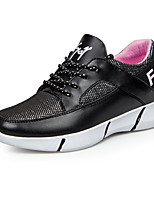 Women's Shoes Fabric Flat Heel Closed Toe Athletic Shoes Outdoor / Athletic / Casual Black / Red / White
