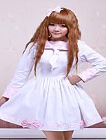 Steampunk®Cotton Pink And White Sailor Bow Cotton School Lolita Dress
