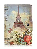estojo de couro torre tablet pc Eiffel padrão universal de 7 polegadas caso inteligente magnética anti-poeira