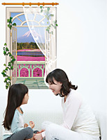 The Vertical Screen Window Wall Scenery Scenic Holiday Landscape / 3D Wall Stickers 3D Wall Stickers,PVC 90*60cm