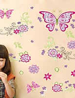 butterfly Monster Wall Paper Decals Removable Wall Sticker Home decoration