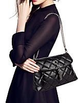 Women Tassel Shoulder Bag Pu Leather Quilted Plaid Chain Thread Crossbody Messenger Bag Handbag