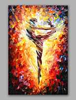 Dancing Girl Knife Oil Painting Design Stretchered Design Handmade Knife Wall Art