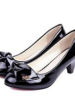Zapatos de mujer-Tacón Robusto-Tacones-Tacones-Exterior / Casual-Semicuero-Negro / Beige