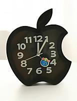 Creative Plastic  Mini apple  Desktop Needle Quartz Alarm Clock (Random Color)