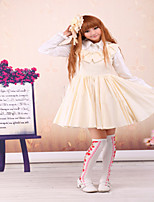 Steampunk®Jewel Neck Lace Cotton Sweet Lolita Dress JSK