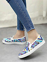 Women's Shoes Canvas Flat Heel Comfort Loafers Outdoor / Athletic / Casual Black / Blue / Red