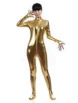 Costumi zentai-Zentai-Unisex- diSpandez / Metallizzato-Oro