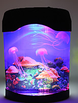 nova decoração da casa tanque de água-viva luz mar natação mundial lâmpada de humor nightlight multicolor LED de alta qualidade