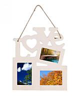 Hollow Love Wooden Family Photo Picture Frame Rahmen Base Art DIY Home Decor