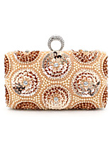 L.WEST® Women's Handmade High-grade Pearl Diamonds Sequins Party/Evening Bag