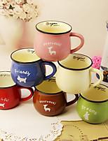 simple nouvelle vache tasse multicolore individualité option classique Zakka tasse en céramique tasse de café tasse