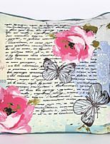 Polyester Housse de coussin,Floral Décoratif
