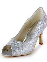 Chaussures de mariage-Argent-Mariage / Habillé / Soirée & Evénement-Talons / Bout Ouvert-Sandales-Homme