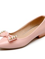 Women's Shoes Patent Leather Low Heel Pointed Toe / Round Toe Flats Office & Career / Casual Blue / Pink / White